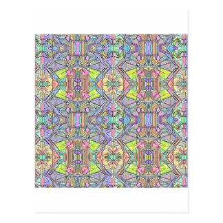 diseño en colores pastel postal