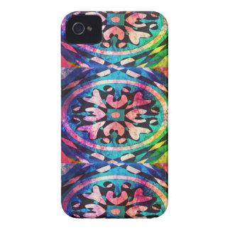 Diseño en fondo colorido funda para iPhone 4