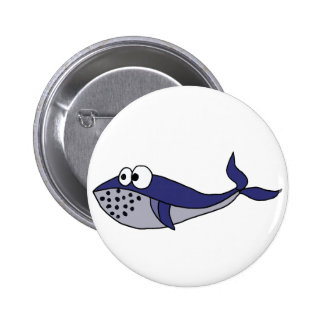 Diseño enrrollado del dibujo animado de la ballena chapa redonda de 5 cm