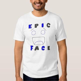 Diseño épico dos de la cara camisetas