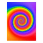 Diseño espiral colorido: postal