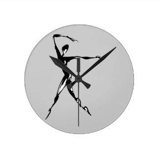 diseño estilizado del baile relojes de pared