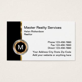 Diseño exclusivo de las propiedades inmobiliarias tarjeta de visita