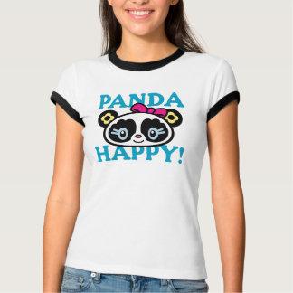 Diseño feliz de la panda camiseta