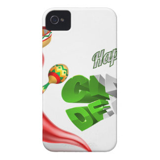 Diseño feliz de la pimienta de chiles de Cinco De Funda Para iPhone 4 De Case-Mate
