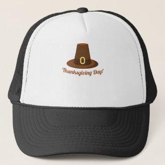 Diseño feliz del gorra del día de la acción de