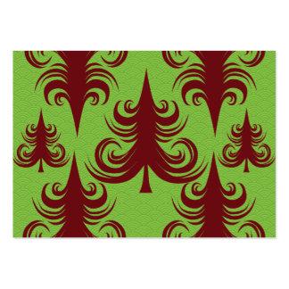 Diseño festivo de Navidad del árbol de navidad del Tarjetas De Visita Grandes