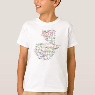 Diseño final de los niños camiseta