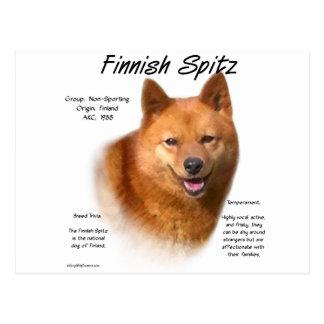 Diseño finlandés de la historia del perro de postal
