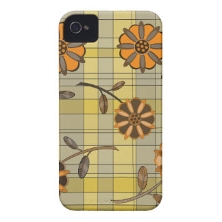 Diseño floral 1 iPhone 4 Case-Mate cárcasas