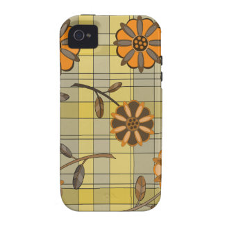 Diseño floral 1 iPhone 4/4S funda