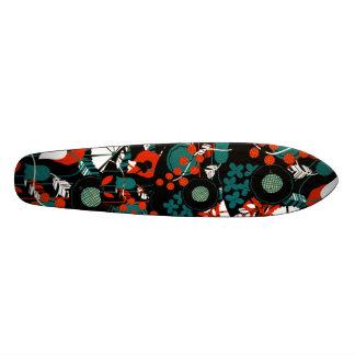 Diseño floral abstracto Longboard Tablas De Skate