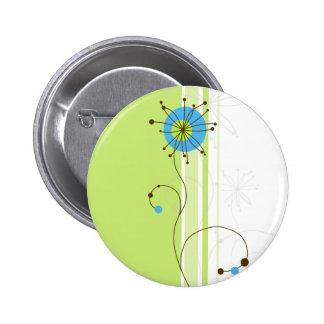 Diseño floral abstracto moderno - botón
