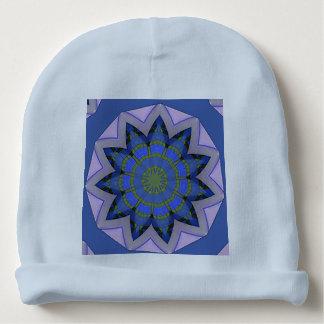 Diseño floral azul bonito gorrito para bebe