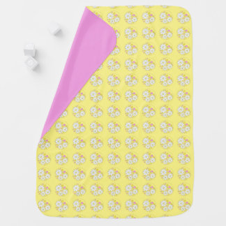 Diseño floral de la margarita de la niña mantitas para bebé