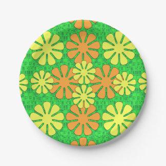 Diseño floral de la MOD Plato De Papel