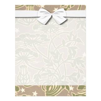 diseño floral de la naturaleza neutral del nouveau tarjetas publicitarias