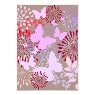Diseño floral de la primavera del jardín de la invitación 12,7 x 17,8 cm