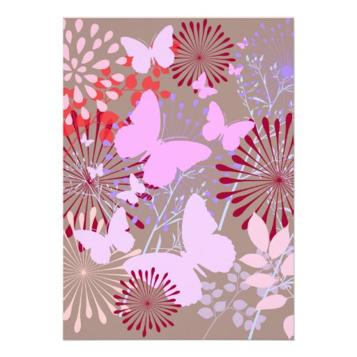 Diseño floral de la primavera del jardín de la mar invitacion personalizada
