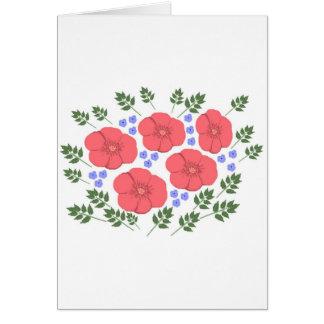 Diseño floral de los años 70 retros tarjetas