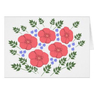 Diseño floral de los años 70 retros tarjeta de felicitación