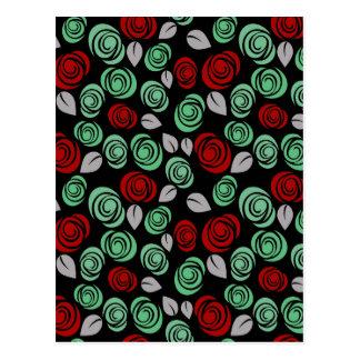Diseño floral decorativo postal