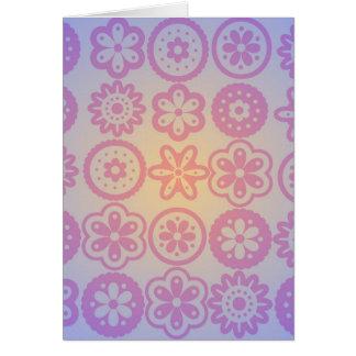 Diseño floral del Hippie Tarjetas