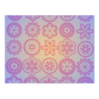 Diseño floral del Hippie Postal