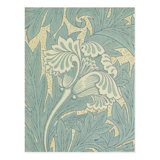 Diseño floral del tulipán de William Morris del Postal