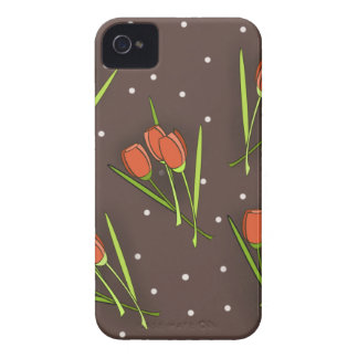 Diseño floral del tulipán Case-Mate iPhone 4 fundas