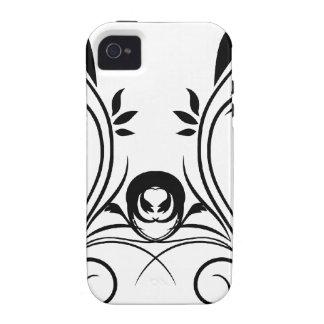 Diseño floral vibe iPhone 4 carcasa
