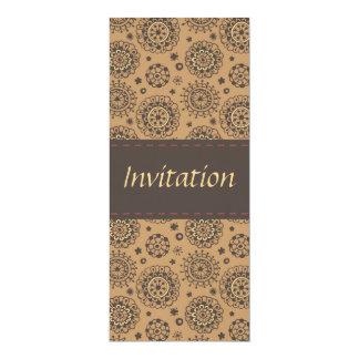 Diseño floral invitación 10,1 x 23,5 cm