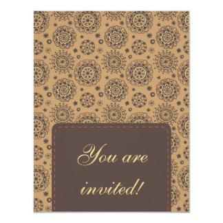 Diseño floral invitación 10,8 x 13,9 cm