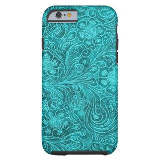 Diseño floral retro de la mirada azulverde del