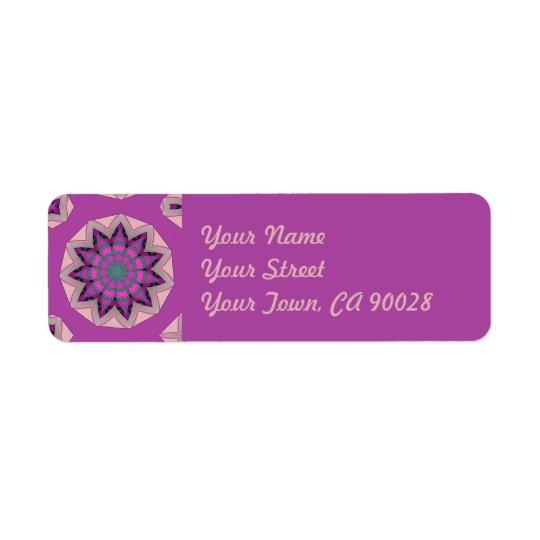 Diseño floral rosado bonito etiquetas de remite