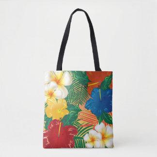 Diseño floral tropical exótico bolsa de tela