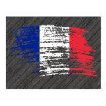 Diseño francés fresco de la bandera tarjetas postales