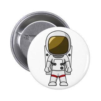 Diseño fresco del dibujo animado del astronauta chapa redonda 5 cm