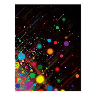 Diseño fresco del extracto del color del arco iris postal