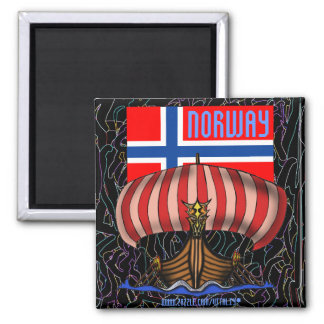 Diseño fresco del imán de la nave de Noruega vikin