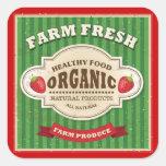 Diseño fresco del poster de la granja retra calcomanía cuadradas personalizada