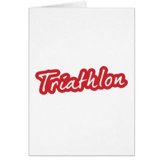 Diseño fresco del Triathlon Tarjeta De Felicitación