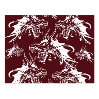 Diseño fresco rojo de la fantasía de la criatura postal