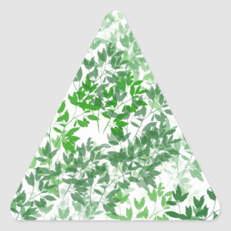 Diseño frondoso del modelo pegatina triangular