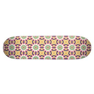 Diseño geométrico colorido tablas de skate