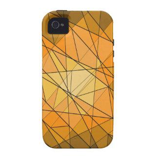 Diseño geométrico de la piedra preciosa iPhone 4/4S funda