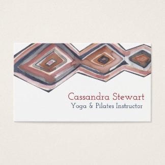 Diseño geométrico de la tarjeta de visita de la