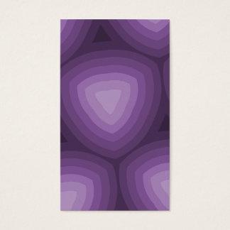 Diseño geométrico de los triángulos púrpuras tarjeta de negocios