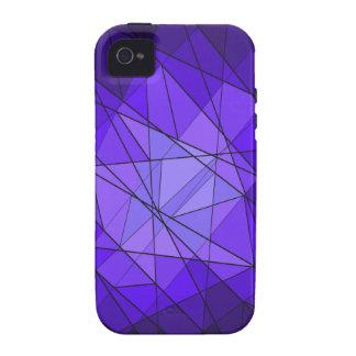 Diseño geométrico del diamante de la piedra iPhone 4 fundas
