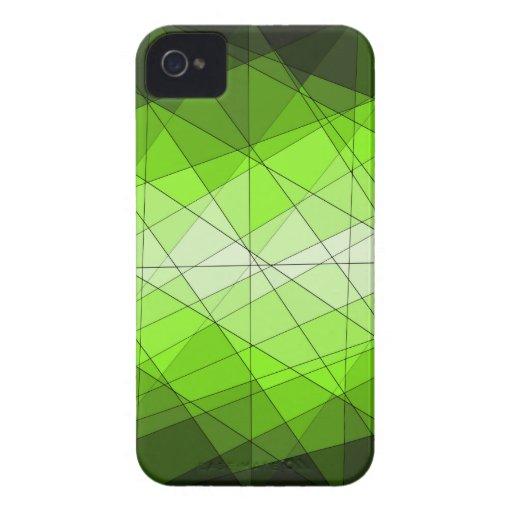 Diseño geométrico del diamante de la piedra iPhone 4 carcasa